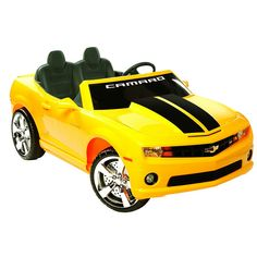 National Products 12V Chevrolet Camaro Ride-On, Yellow