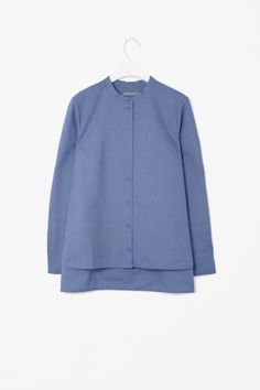 Shirt with curved hem