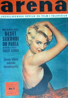 Arena - December 6th 1959, magazine from former Yugoslavia. Front cover photo of Marilyn Monroe by Philippe Halsman, 1954.