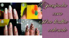 Faz algum tempo que surgiu no mercado os Extra Brilhos coloridos, eles também ganharam o nome de Tint's . Esse produto nada mais é que um esmalte beeeeeeeeeeem ralinho e incolor, mas que tem uma boa pigmentação, ou seja, ele consegue preencher carimbadas e deixar uma boa tonalidade. Vem conferir o passo a passo de uma mani linda esponjada e carimbada utilizando o Extra Brilho Colorido!   http://fascinioporesmaltes.com/passo-a-passo-esponjada-extra-brilho