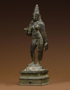 """Devi<br>Copper alloy<br>South India, Chola period 