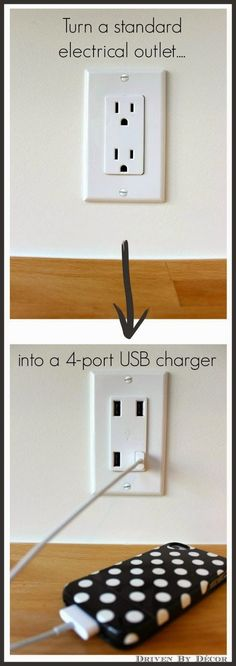 Love this! No more clutter from chargers and I can charge all of our phones in one place.