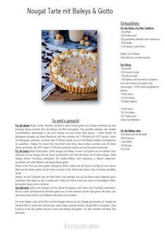 Nougat Tarte mit Baileys & Giotto Rezept Rezept Recipe-001