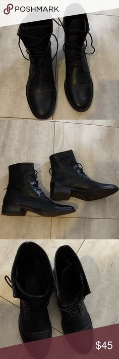 Black booties Black booties, worn once, like new J. Jill Shoes Ankle Boots & Booties