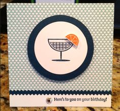 Happy Hour Mini Card - 3x3 by maliasmommyx0 - Cards and Paper Crafts at Splitcoaststampers