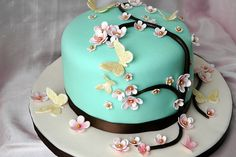 There are many great Mothers Day Cake Design you can cook and decorate. Wish a Mother's day with one of these amazing Mothers Day Cake Design that everyone will remember. Cute Cakes, Pretty Cakes, Beautiful Cakes, Amazing Cakes, Mothers Day Cakes Designs, Fondant Cakes, Cupcake Cakes, Cupcake Ideas, Cherry Blossom Cake