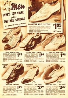 1940s Men's Two Tone Shoes. learn and shop at VintageDancer.com/1940s