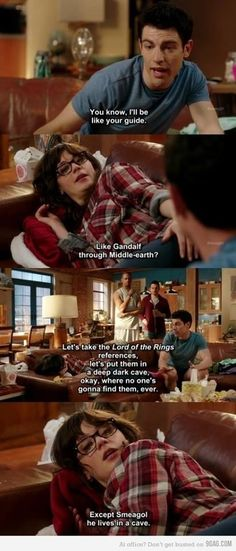 New Girl LOTR quotes LOL