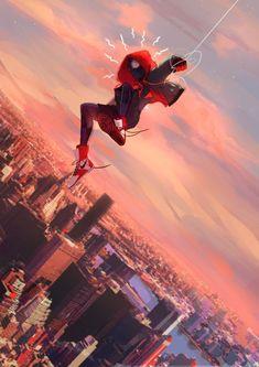 Spider-Man Into the Spider-Verse Miles Morales Marvel Dc, Marvel Comics, Marvel Heroes, Marvel Characters, Amazing Spiderman, Black Spiderman, Spiderman Spider, Look Wallpaper, Marvel Wallpaper