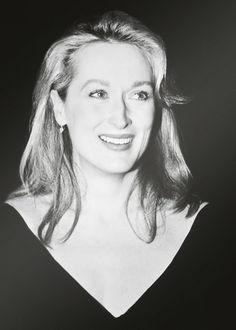 Meryl Streep, a classic beauty.