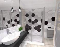 Znalezione obrazy dla zapytania biało szare płytki heksagonalne wizualizacja Bath Mat, Curtains, Shower, Rugs, Bathroom, Home Decor, Rain Shower Heads, Farmhouse Rugs, Washroom