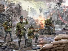 """""""Tropas de élite germanas, 1939-1943"""", cortesía de Zvezda. Son Waffen SS y apostaría por Jarkov... Más en www.elgrancapitan.org/foro"""