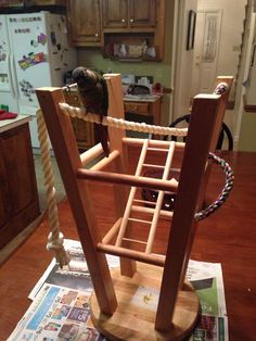 Bird Play Stand #parrotcagediy