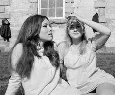 Diana Rigg and Helen Mirren, 1968