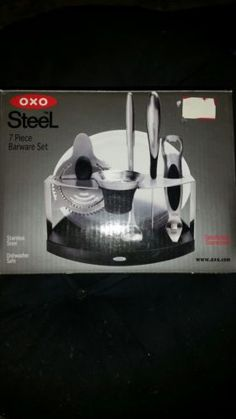 Cocktail Shakers And Bar Sets 63504: Oxo 7 Piece Barware Set  U003e BUY IT