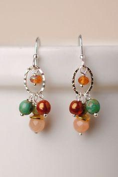 Gentle Breeze Hoop Cluster Dangle Earrings for Women