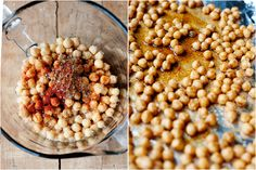 Spicy Roasted Chickpeas - Looks like a good healthy snack.  This is a traditional Indian snack BTW.