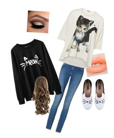"""""""Kitty cat"""" by vivkmh on Polyvore featuring Calvin Klein, Karl Lagerfeld and Vivienne Westwood"""