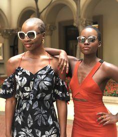 21,495 likes blackwomenarepoppinQueens doing queen tings in #Johannesburg #SouthAfrica #LupitaNyongo#DanaiGurira #BlackPanther