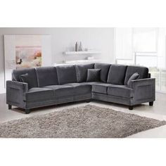 With plenty of seating and plenty of style, the Meridian Furniture Inc Ferrara 2 Piece Sectional Sofa with Pillows is the perfect addition to your living. Sofa Furniture, Living Room Furniture, Furniture Sets, Modern Furniture, Dream Furniture, Traditional Furniture, House Furniture, Garden Furniture, Living Rooms