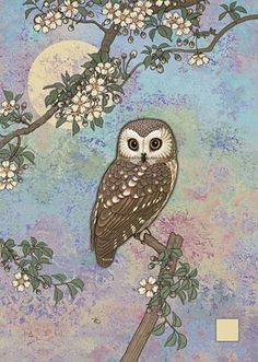 'Moonlit Owl' by Jane Crowther