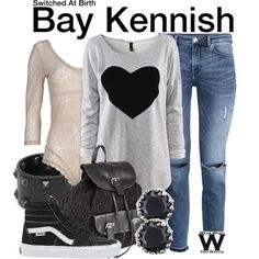 I already have the shirt - I guess I should get the rest of the outfit lol Inspired by Vanessa Marano as Bay Kennish on Switched At Birth.