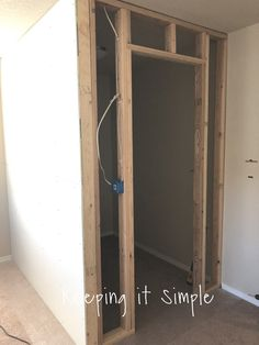 Have you been wanting to build a closet? Here are tips on how to build a closet to turn a room into a bedroom! I share things that I would do again and things I would do differently. Basement Bedrooms, Closet Bedroom, Closet Space, Make A Closet, Simple Closet, How To Build Closet, Closet Built Ins, Built In Pantry, Framing A Closet