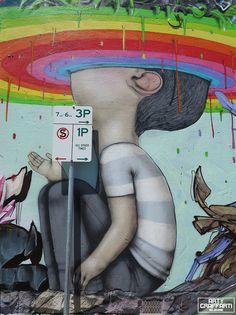 _vsalles: visão em quinta dimensão #v5d =) Walking on a Dream: Colorful Murals by Seth Globepainter