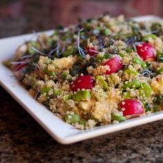 Avocado, Fava Bean and Quinoa Salad HealthyAperture.com