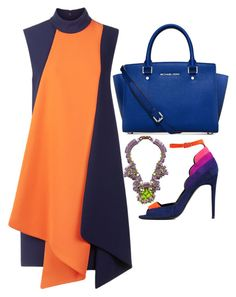Orange, Blue & Pink by carolineas on Polyvore featuring polyvore, fashion, style, Victoria, Victoria Beckham, Pierre Hardy, Michael Kors, Kirsty Ward and clothing