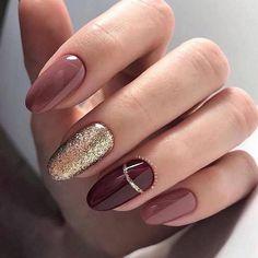 Maroon Nail Designs, Bridal Nails Designs, Star Nail Designs, Bridal Nail Art, Wedding Nails Design, Indian Nail Art, Indian Nails, Silver Nail Art, Pink Nail Art