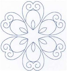 Simple stitch pattern to add to the center, or anywhere on your quilt.