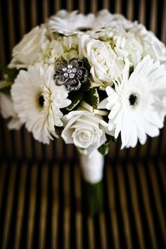 Gerber Daisy and hydrangia Bouquets | had white Gerber Daisy's, white Garden Roses and White Hydrangea.