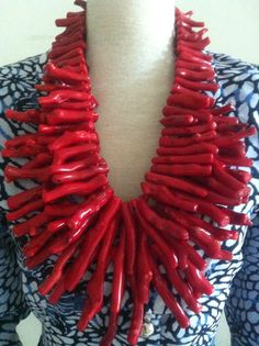 Coral Jewelry, Ethnic Jewelry, Statement Jewelry, Coral Turquoise, Red Coral, Mother Kali, Durga Kali, Coral Design, Handmade Jewelry