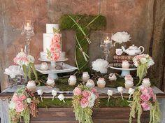 tangled wedding dessert buffet