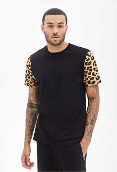 I'm obsessed with this forever 21 model and all his cheetah clothes