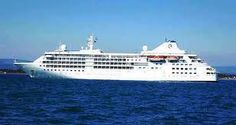 Silverseas- Silver Cloud GT, Capacity of 296 passengers Sail Away, Cruise Ships, Sailing, Around The Worlds, Boat, Clouds, Water, Silver, Travel