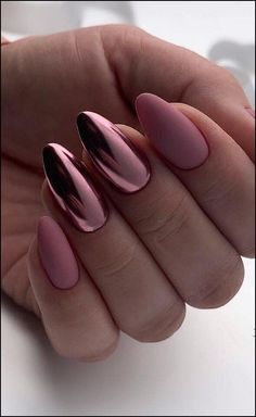 39 Hottest Awesome Summer Nail Design Ideas for 2019 Part 27 - Summer Nails - Nagellack Cute Acrylic Nails, Acrylic Nail Designs, Nail Art Designs, Nails Design, Metallic Nails, Matte Nail Art, Acrylic Summer Nails Almond, Acrylic Summer Nails Beach, Holographic Nails Acrylic