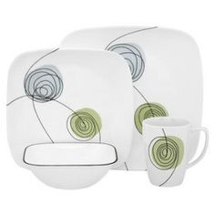 corelle dishes | Corelle Scribble Dots 16-pc. Dinnerware Set - Reviews u0026 Prices @ Yahoo .  sc 1 st  Pinterest & Corelle Dishes u0026 Corelle Dinnerware Sets | Something For Everyone ...