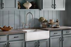 Bead board backsplash panted to match cabinets?