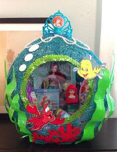 Little mermaid string easter basket I made for my daughter