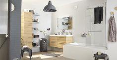 Meuble de salle de bains bois. #salledebains #bathroom #nature