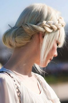 An amazing hairdo that Erin Fetherston was wearing during Paris Fashion Week 2011. #hairstyles #fashionweek