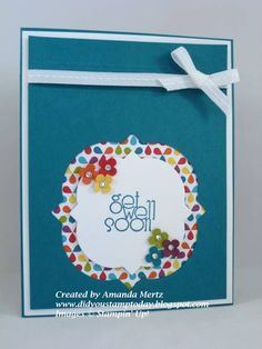 Rainbow Get Well by mandypandy - Cards and Paper Crafts at Splitcoaststampers