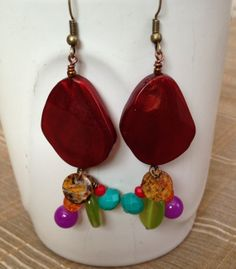 Red Turquoise Purple Green Orange and by PeacocksandLeopards, $14.00