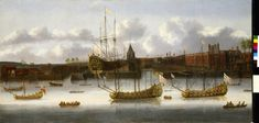 East India Company ships at Deptford - National Maritime Museum