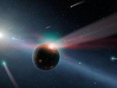 A storm of comets around a star Eta Corvi