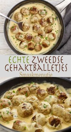 Zweedse gehaktballetjes #recipe #recept Meat Recipes, Pasta Recipes, Cooking Recipes, Healthy Recipes, I Love Food, Good Food, Yummy Food, Tasty, Food Porn