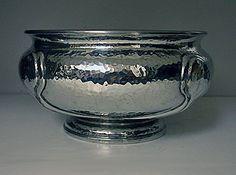Liberty Knox hammered Pewter Bowl, English C.1910