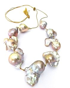 pearls One-of-a-kind, natural baroque pearls, hand-tied or knotted. Elegant, easy and great for layering. Classic pearl ropes and bracelets are bridal staples.